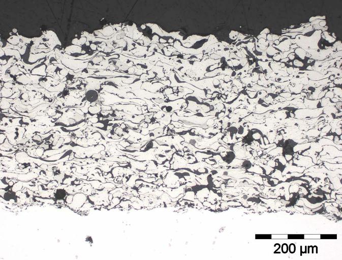 Metallographic preparation of thermal spray coatings