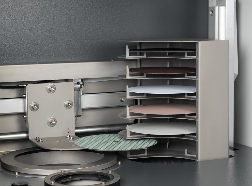 Hexamatic elevator for disk exchange