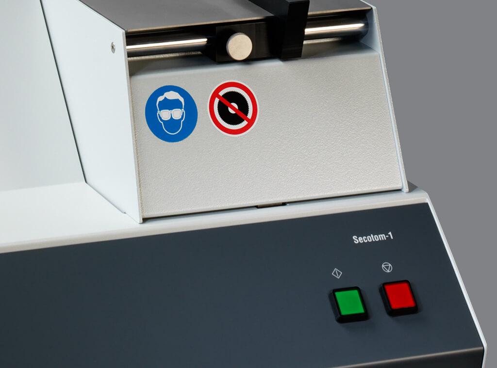 Secotom 1 内置的切割轮冷却系统