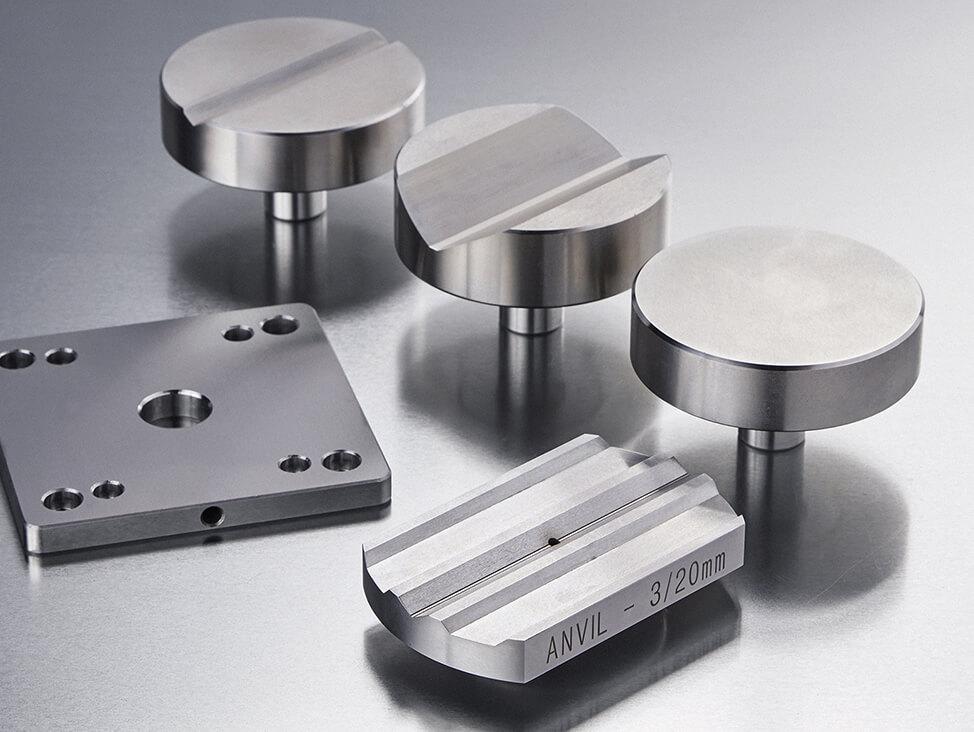 Harness testing anvils