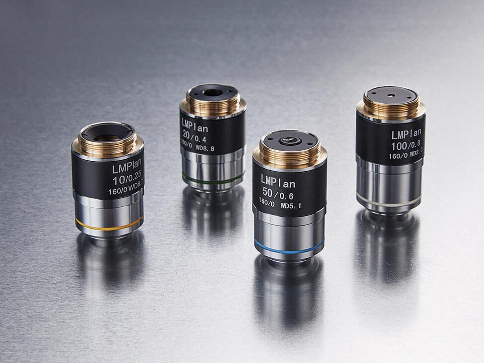 Hardness testing objective lenses