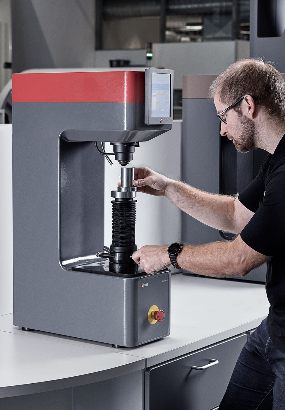 Lab placing sample High efficiency and productivity