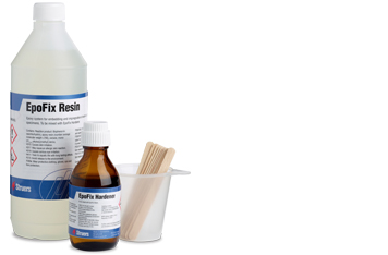 Struers cold mounting consumables epoxy