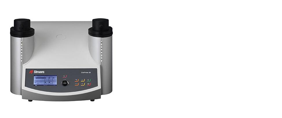 CitoPress-30 ist eine elektrohydraulische programmierbare Einbettpresse mit Doppelzylinder.