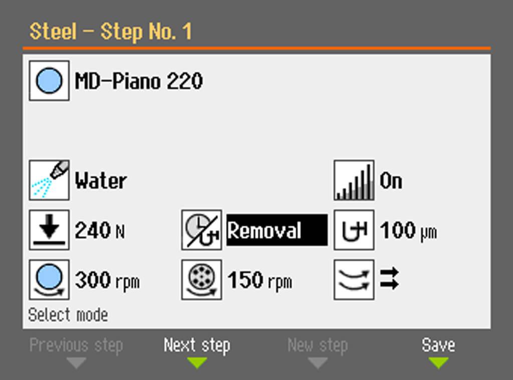 Control de arranque de material de AbraPol-30