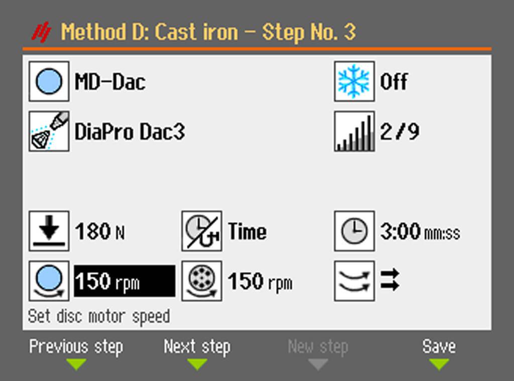 AbraPol-30 Rotation variable de la meule et du porte-échantillons