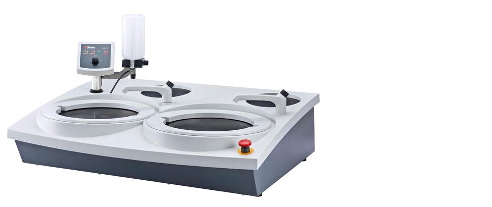 LaboPol: máquina de esmerilado/pulido con velocidad variable.